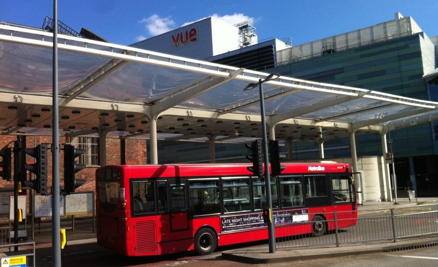 Ứng dụng ETFE đệm khí được sử dụng tại khu vực trạm chờ xe buýt ở vùng Tây Bắc nước Anh.