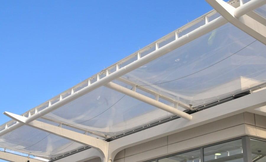 Ứng dụng ETFE dạng đệm khí sau khi được lắp đặt hoàn chỉnh.