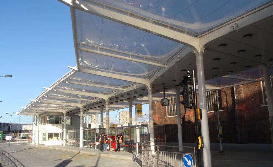 Ứng dụng ETFE tại trạm chờ xe buýt