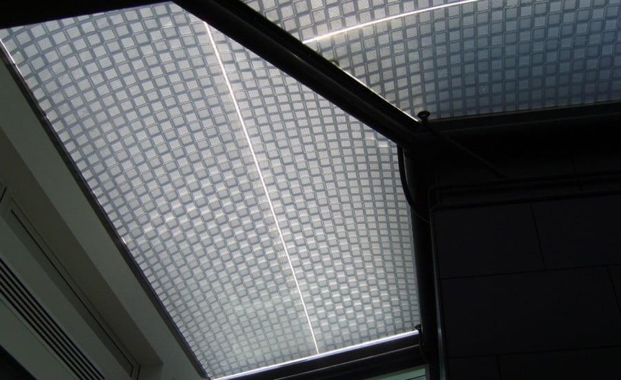 Công nghệ in hoa văn ETFE thông minh tại đại học Lancaster.