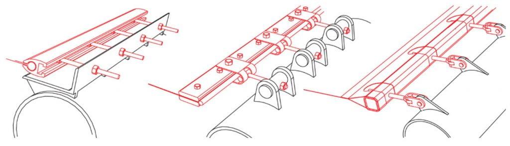 Chi tiết bạt căng kiến trúc 01 - clamping detail