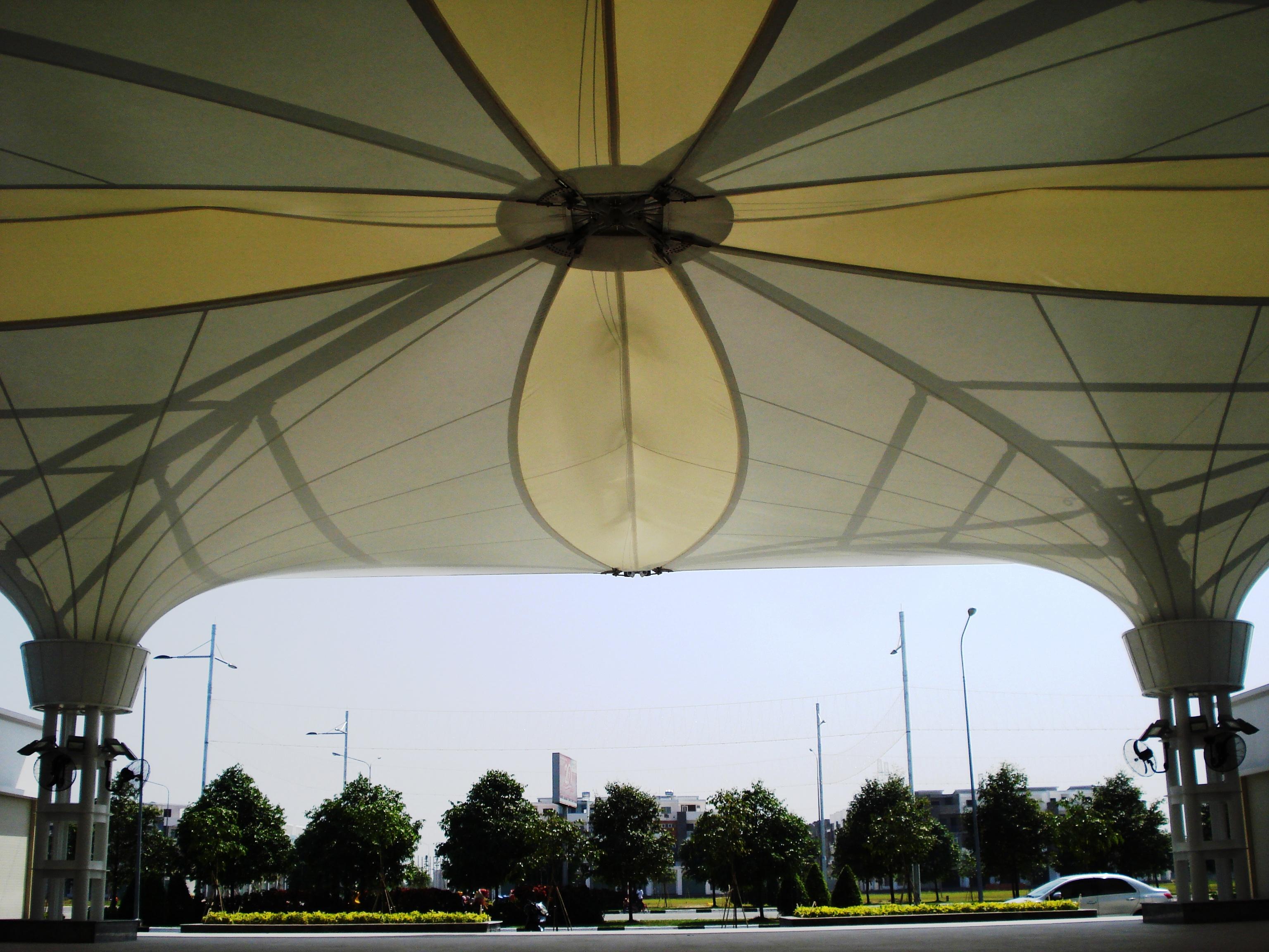 #57 Bạt Căng Phễu Nhiều Chóp 01| Multi Peak Tensile Umbrella