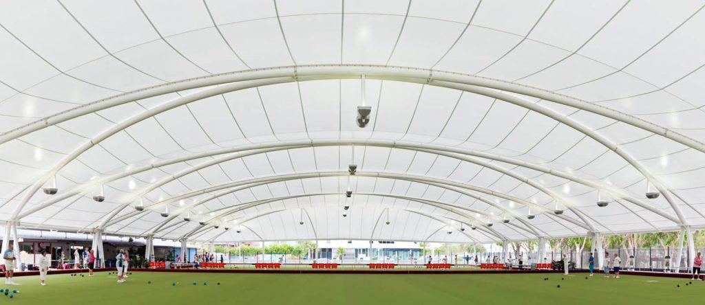 Mái che bạt căng nhà thi đấu sân vận động dạng vòm