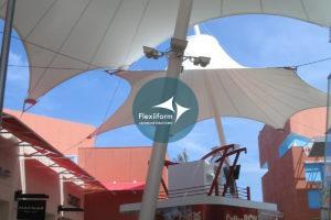 Outlet mall_Thiết kế thi công mái che lối đi 3