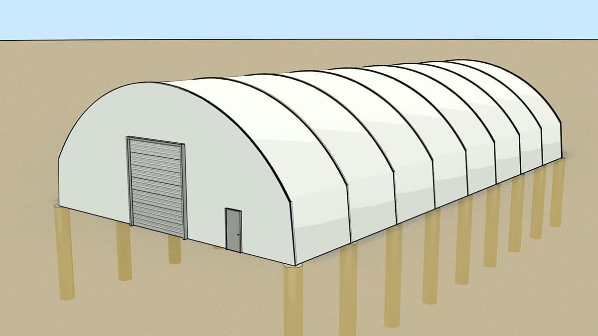 Ứng dụng mái bạt căng trong thiết kế nhà xưởng
