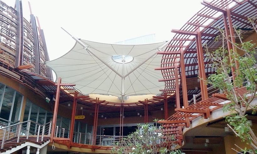 Mái Che Bạt Căng Kết Nối Tòa Nhà 2 Flexiiform