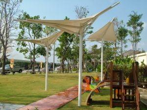 Mái che bạt căng công viên