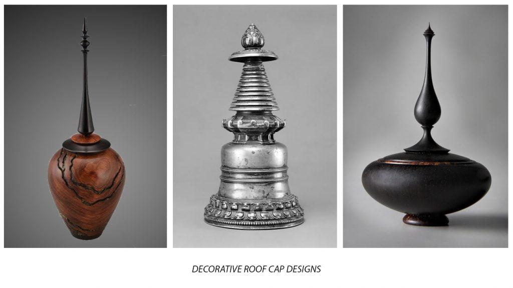 tensile fabric decorative roof cap