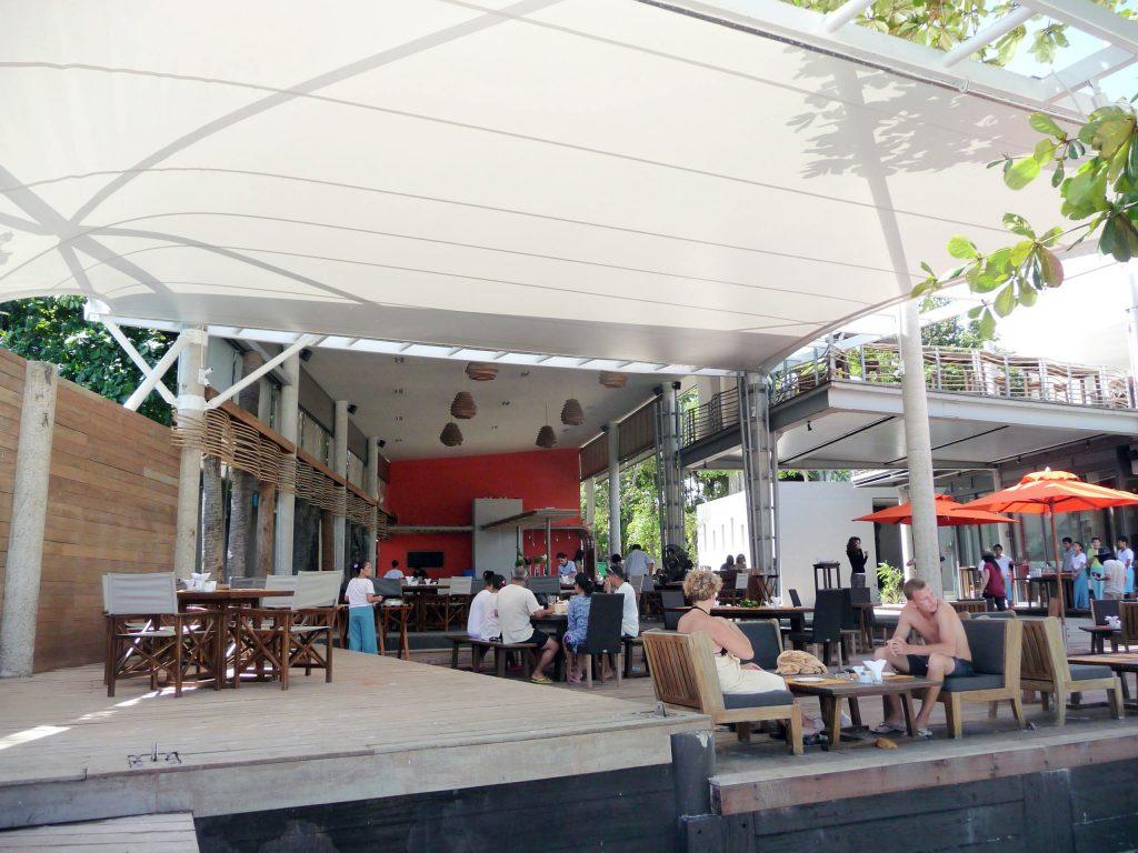 Mái che bạt căng quán cafe ngoài trời 1 Flexiiform