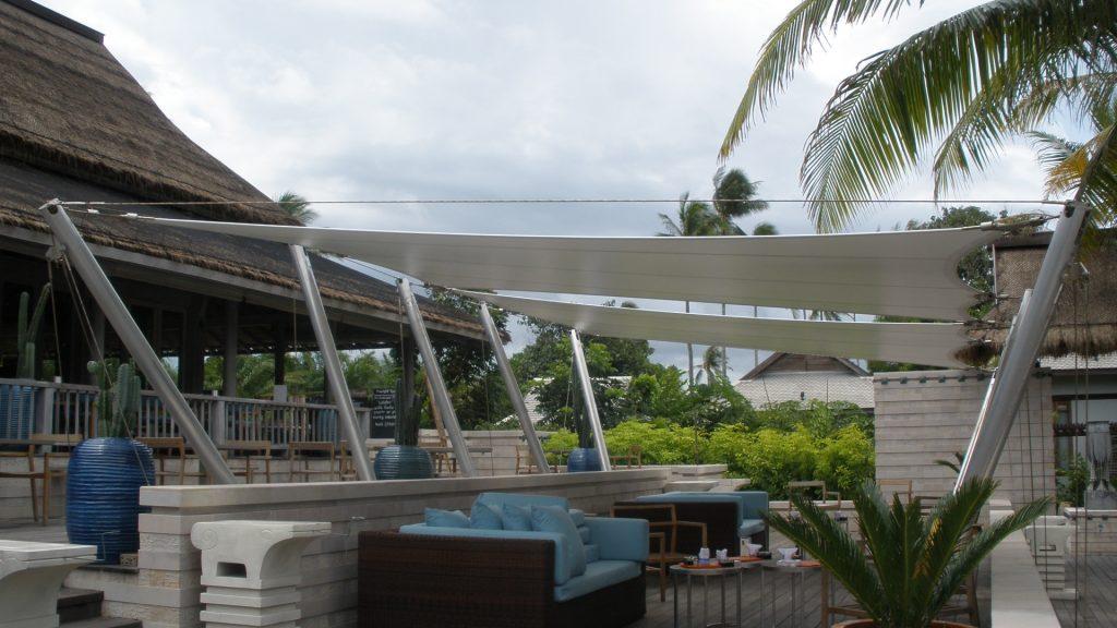 Dù che bạt căng quán cafe bãi biển 1 Flexiiform