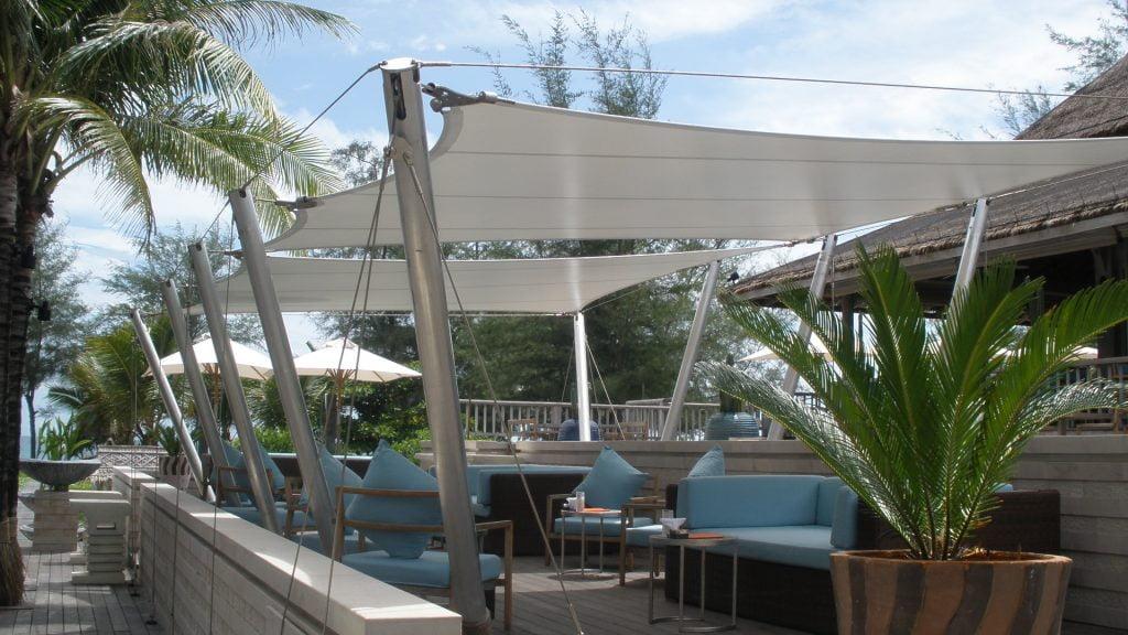 Dù che bạt căng quán cafe bãi biển 3 Flexiiform