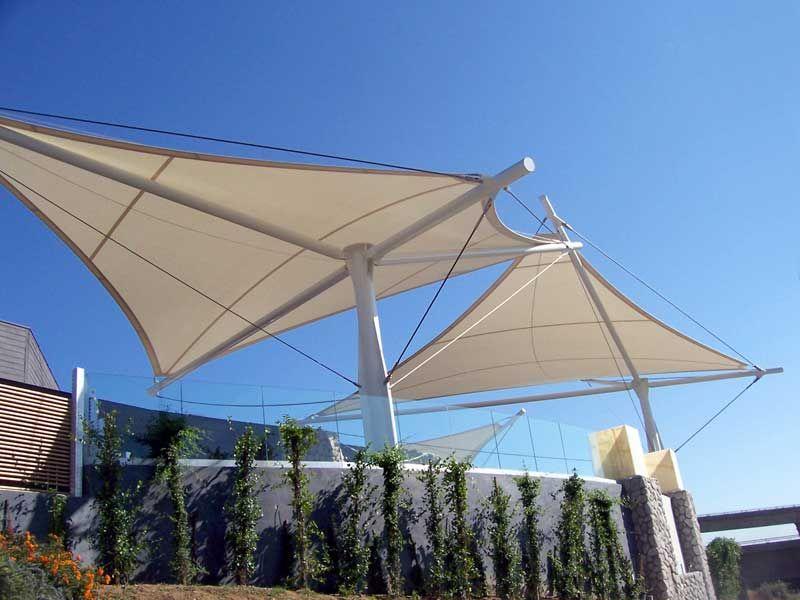Mái che bạt căng sân thượng chống nóng, cản mưa - Giải pháp đối phó thời tiết 3 Flexiiform