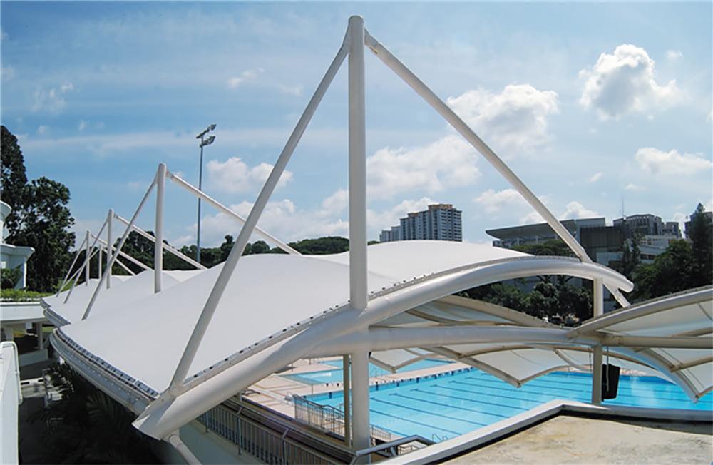 Mái che bạt căng hồ bơi 2 Flexiiform