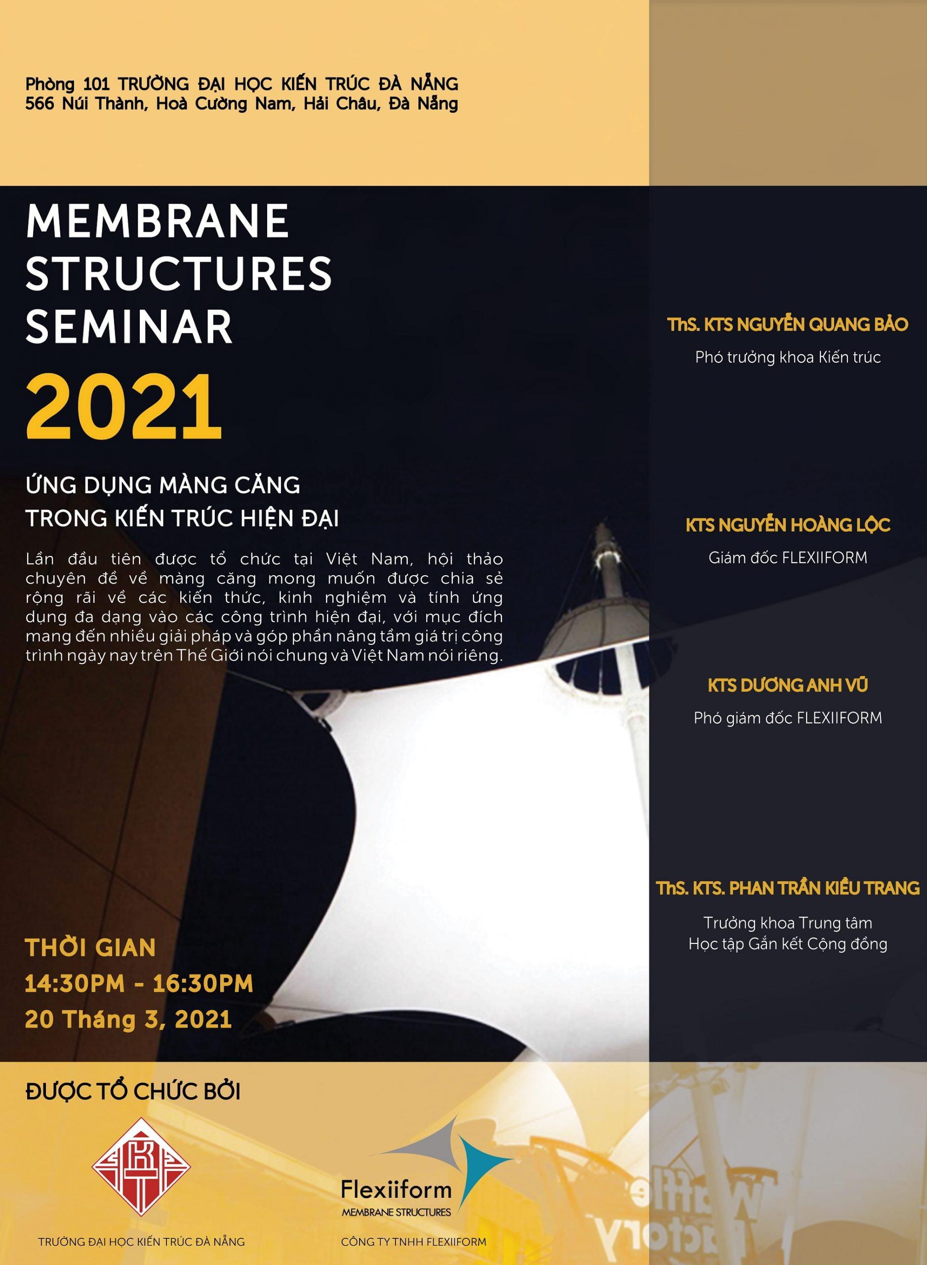 poster hội thảo chuyên đề tensile fabric