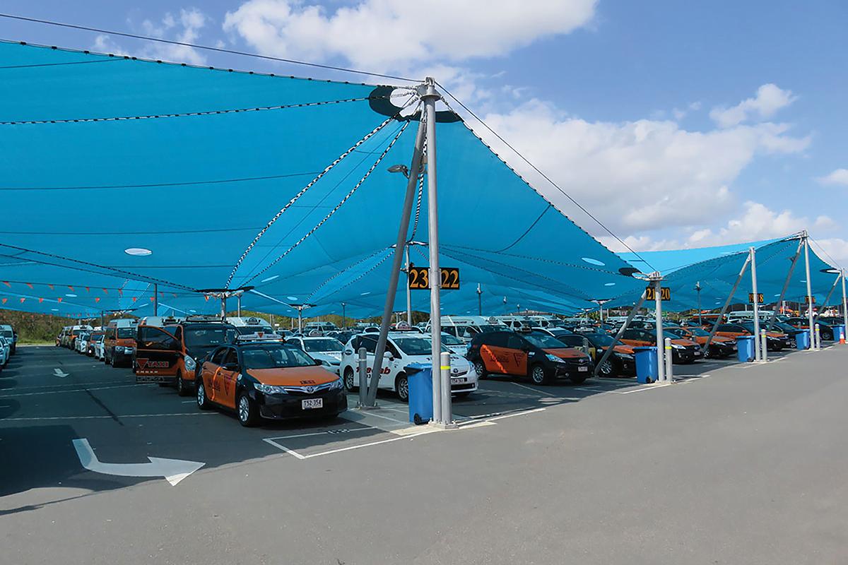 Tensile Fabric Vietnam - Car Parking Canopies Design and build - Thiết kế và thi công Mái che bạt căng nhà xe - BAC-Source Fabritecture