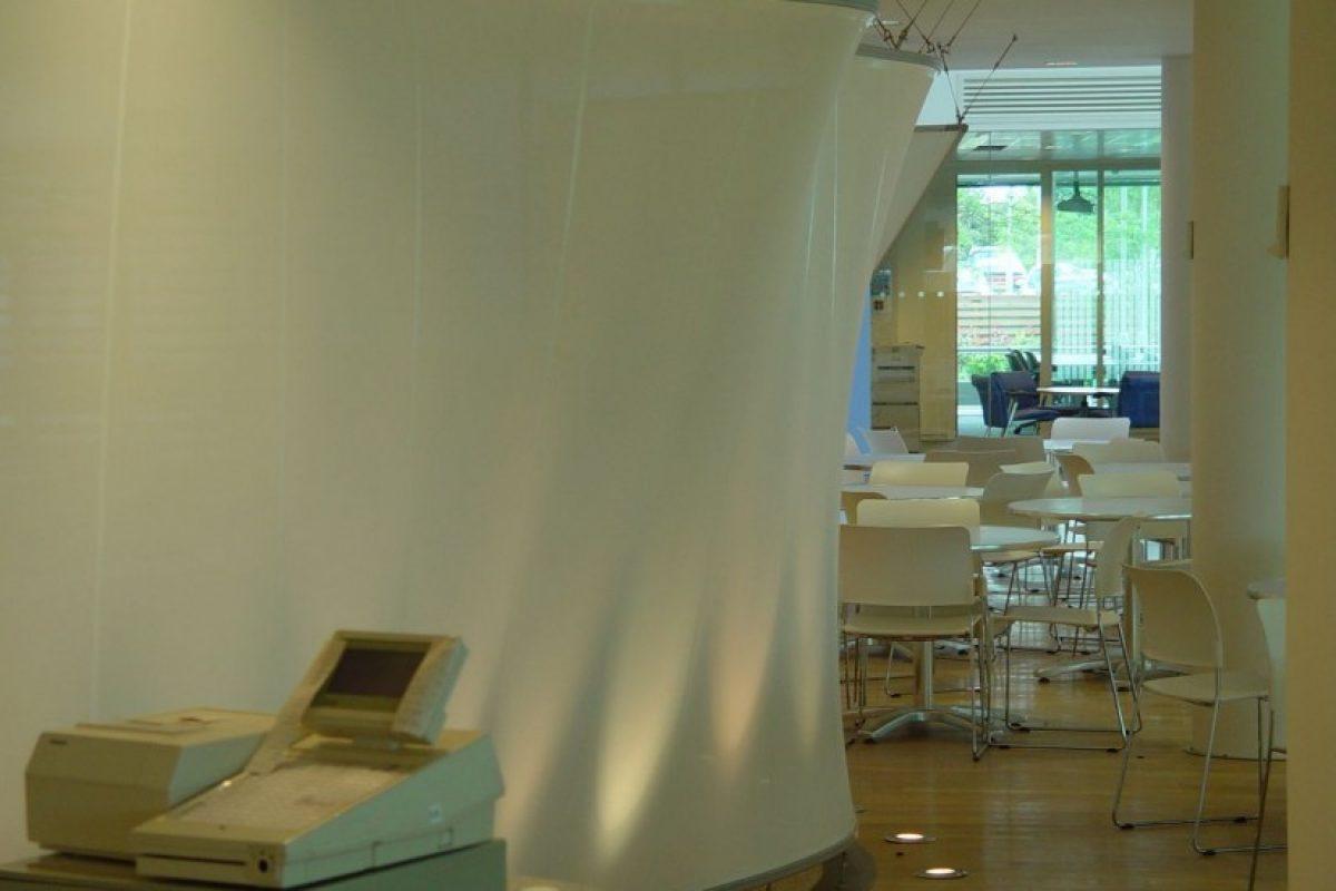 Ứng dụng mái che bạt căng nội thất dùng cho màn chiếu: Trung tâm cuộc gọi BT, Công viên Leavesden
